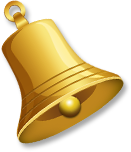 Gold bell tilted left